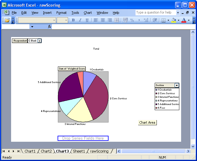 Screenshot of Pie Chart